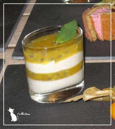 Dessert de no l verrine mousse ivoire et gel e passion recette ptitchef - Recette de noel dessert ...