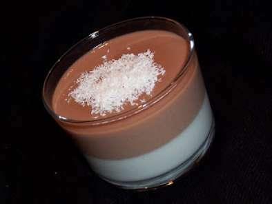 double panna cotta noix de coco chocolat au lait. Black Bedroom Furniture Sets. Home Design Ideas