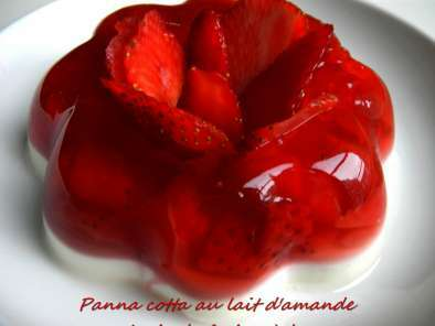 duo de panna cotta et fraises la rose pour un saint valentin tout en douceur recette ptitchef. Black Bedroom Furniture Sets. Home Design Ideas