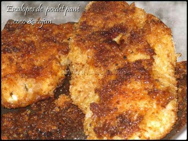 escalope de poulet pan aux pices cajun coco recette ptitchef. Black Bedroom Furniture Sets. Home Design Ideas