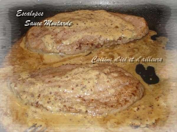 Escalopes de porc la moutarde l 39 ancienne recette ptitchef - Recette cuisine ancienne ...