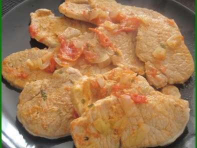 Escalopes de porc la portugaise recette ptitchef - Cuisine portugaise recettes ...