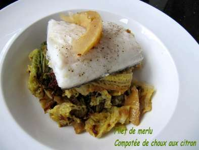 FILET DE MERLU AU CHOU ET 2 CITRONS