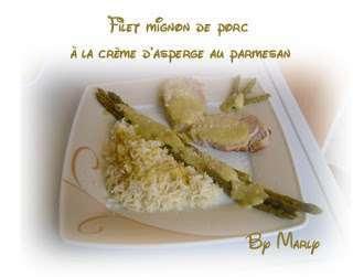 filet mignon la creme d 39 asperges au parmesan recette ptitchef. Black Bedroom Furniture Sets. Home Design Ideas