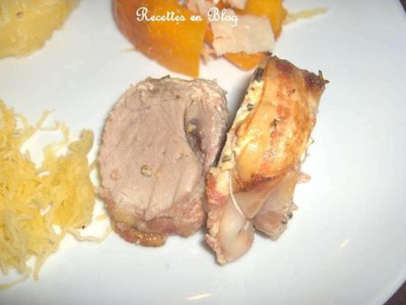 Filet Mignon Au Lard Fume Vin Blanc Creme Et Moutarde Roti Au Four