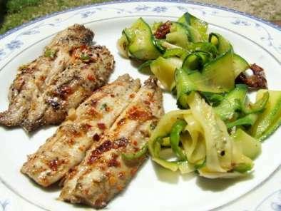 Filets de sardines marin s au bbq tagliatelles de - Accompagnement sardines grillees barbecue ...