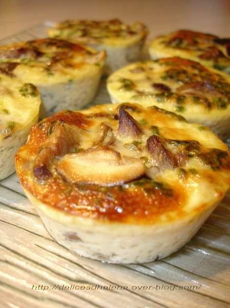 Flans aux champignons sauvages recette ptitchef for Menus originaux faciles