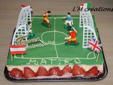 Gâteau anniversaire version Foot