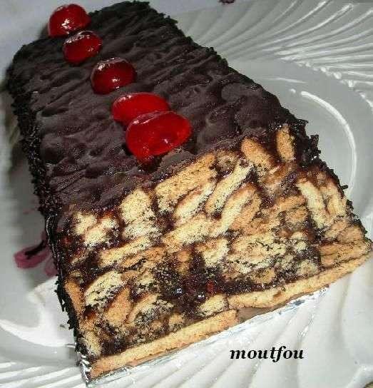 G teau aux cerises et au chocolat sans cuisson recette - Gateau chocolat sans cuisson ...