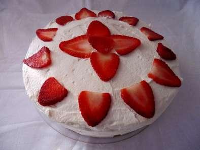 Gateau fraise sans sucre