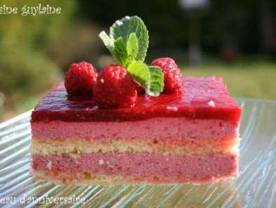 Gâteau d\u0027anniversaire à la framboise,
