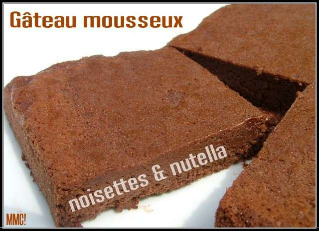 g teau l ger et mousseux au nutella sans beurre recette. Black Bedroom Furniture Sets. Home Design Ideas