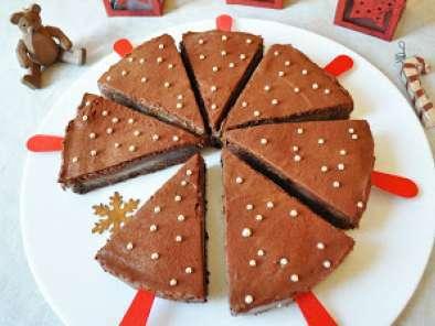 Gateau mousse au chocolat et poire