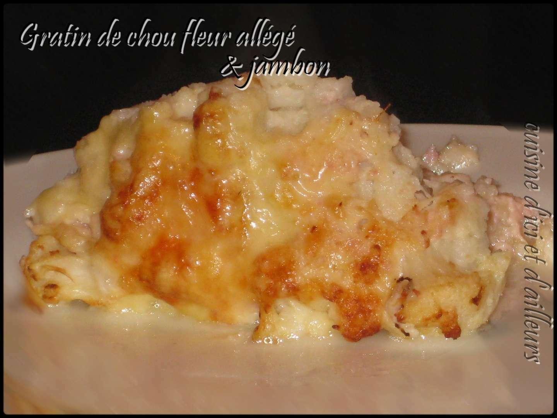 Gratin all g de chou fleur au jambon recette ptitchef - Choux de bruxelles recette gratin ...