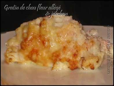 Gratin Allege De Chou Fleur Au Jambon Recette Ptitchef