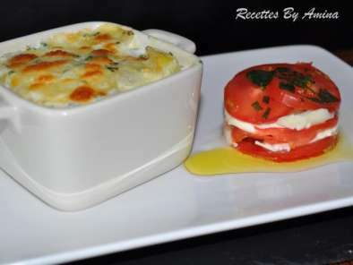 Gratin dauphinois avec tomate mozzarella, Photo 2
