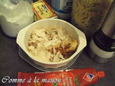 Gratin de Macaronis au poulet, Photo 3