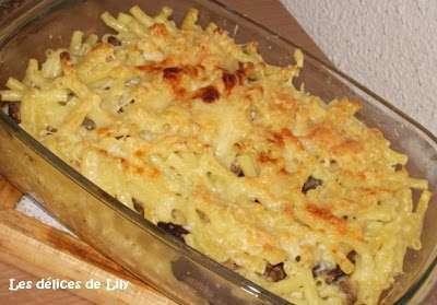 gratin de macaronis aux champignons recette ptitchef. Black Bedroom Furniture Sets. Home Design Ideas