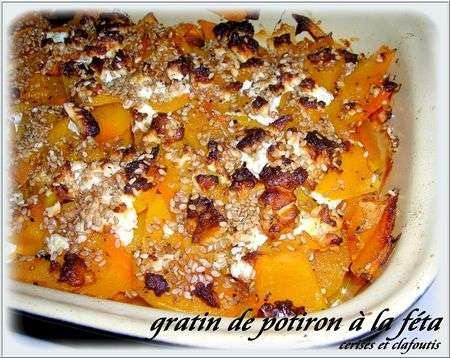 gratin de potiron et feta recette cr toise recette ptitchef. Black Bedroom Furniture Sets. Home Design Ideas