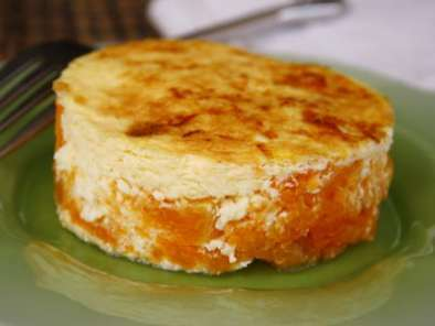Gratin de potiron, rond, rond au fromage, Photo 3