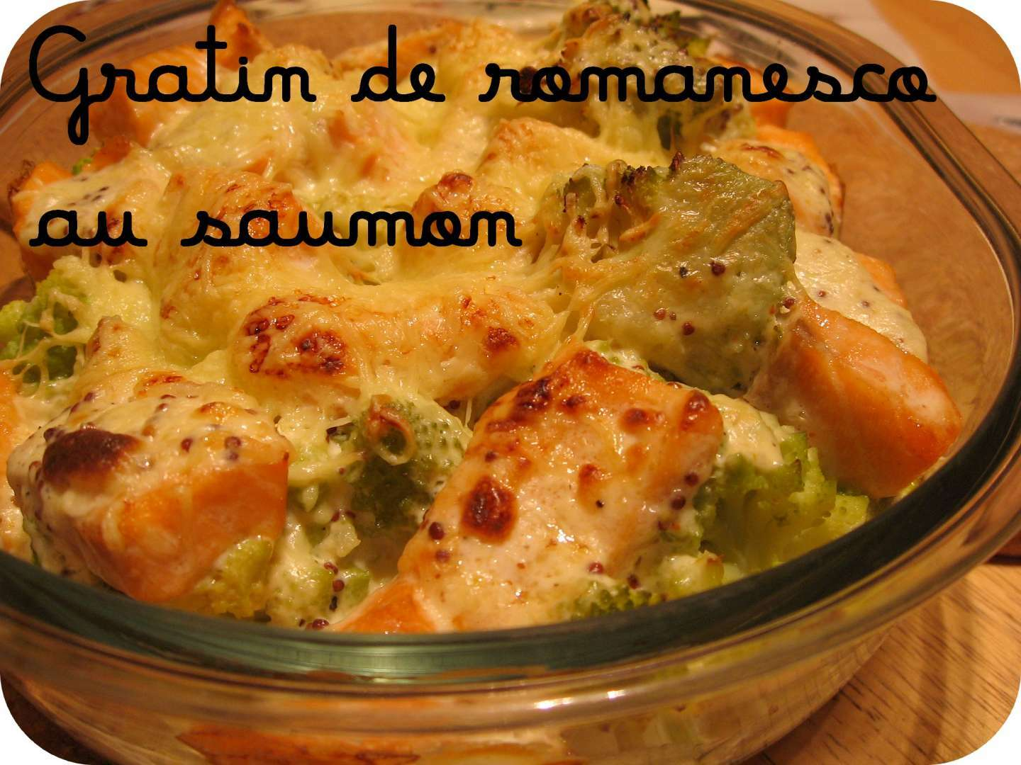 gratin de romanesco au saumon recette ptitchef. Black Bedroom Furniture Sets. Home Design Ideas