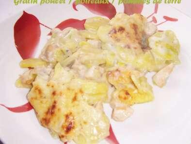 Gratin Poulet Poireaux Pommes De Terre Recette Ptitchef