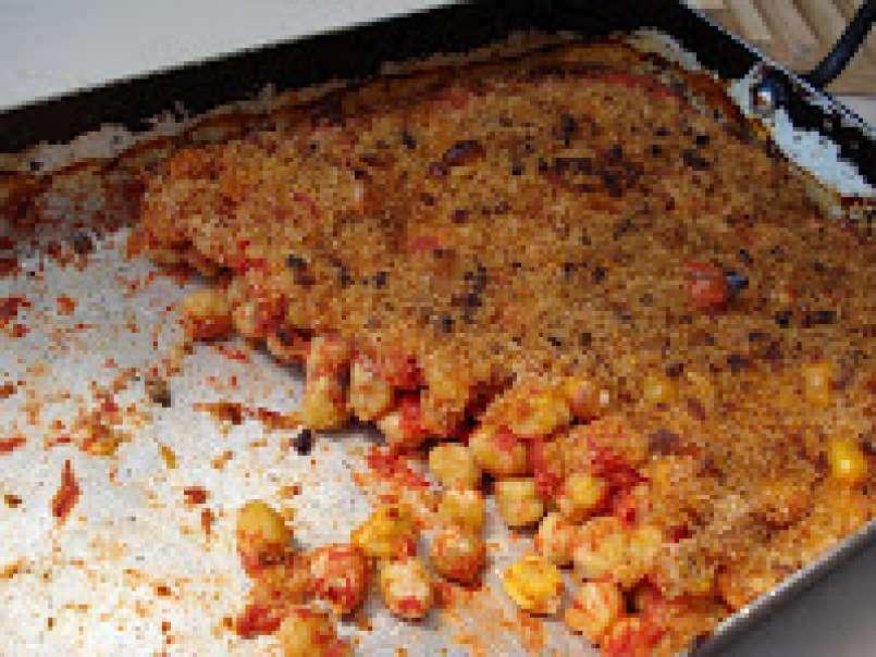 Gratins de pois chiches cuisinés à la tomate, Recette Ptitchef