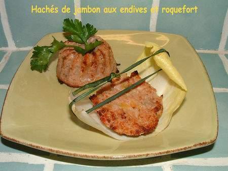 hach s de jambon aux endives et roquefort recette ptitchef. Black Bedroom Furniture Sets. Home Design Ideas