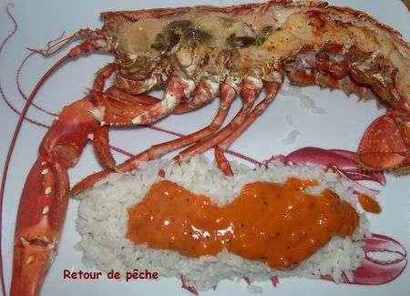 Homard breton grille et sa sauce coraill e recette ptitchef - Accompagnement homard grille ...