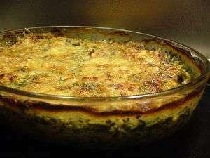 Idee du soir : gratin chou fleur, epinard et jambon ...