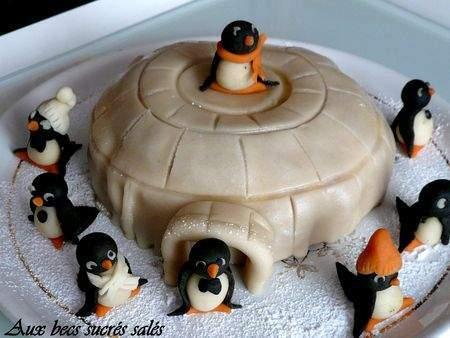 igloo et pingouins en p te d 39 amande recette ptitchef. Black Bedroom Furniture Sets. Home Design Ideas