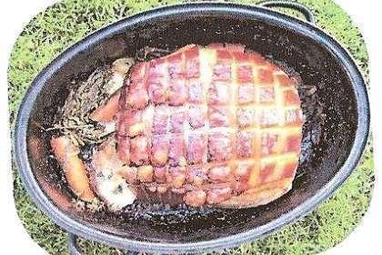 Jambon grillé au feu de bois, Recette Ptitchef