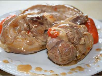 Jarret de porc en sauce