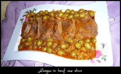 Langue de boeuf aux olives a l 39 algerienne recette ptitchef for Notre cuisine algerienne