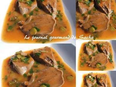 Langue de porc sauce piquante recette ptitchef - Cuisiner des cotes de porc ...