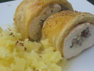 Les blancs de poulet farcis aux champignons de jamie - Comment cuisiner les blancs de poulet ...
