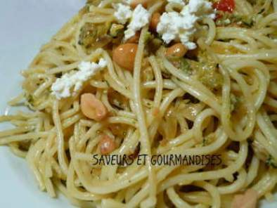 LINGUINE AUX COURGETTES ET RICOTTA., Photo 2