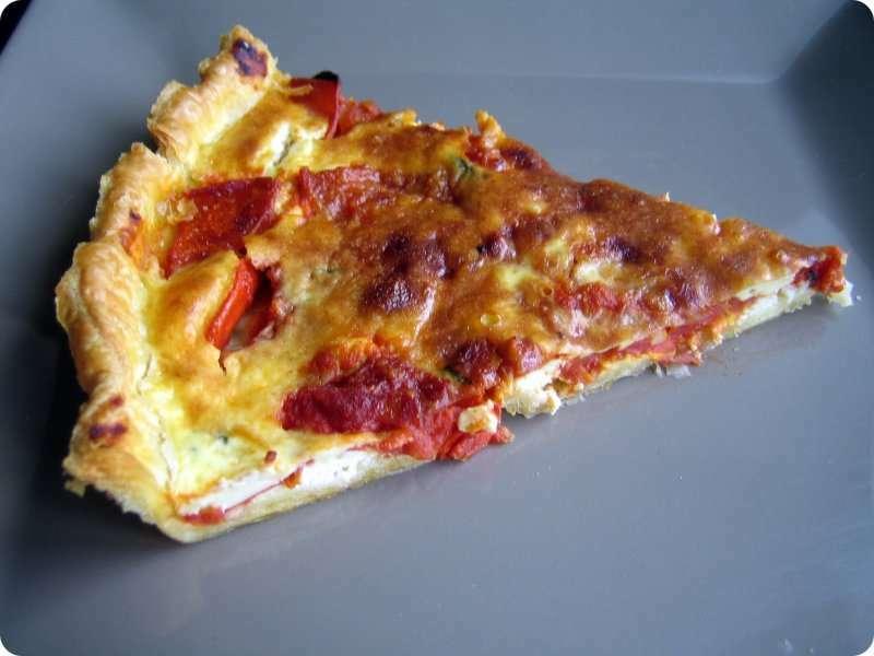 Ma tarte fine l g re aux tomates et au ch vre frais for Entree legere et facile
