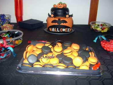 Macarons d'Halloween : orange et noir, Photo 3