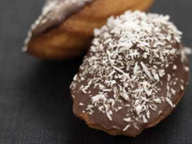 Madeleines à la noix de coco et au chocolat