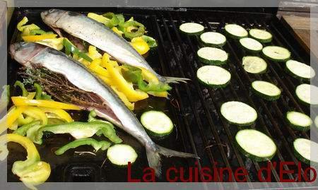 Maquereaux la plancha et l gumes du soleil recette ptitchef for Legumes a la plancha