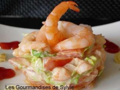 Cocktail de crevettes et saumon fum recette ptitchef - Comment presenter des crevettes en entree ...