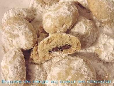 Boules de neige au coeur en chocolat sans oeuf recette ptitchef - Boule a neige sans glycerine ...