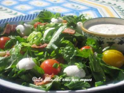 Salade verte au bacon et la tomate recette ptitchef - Salade verte calorie ...
