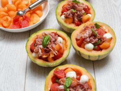 Salade de melon recette ptitchef for Entree facile ete