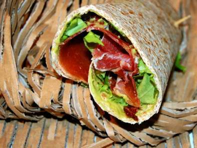 Street food, wrap au jambon