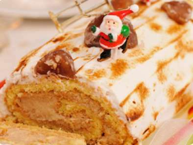 Bûche de Noël sans gluten aux marrons