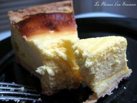 Mi cheesecake mi gâteau au fromage blanc, sans pâte ...