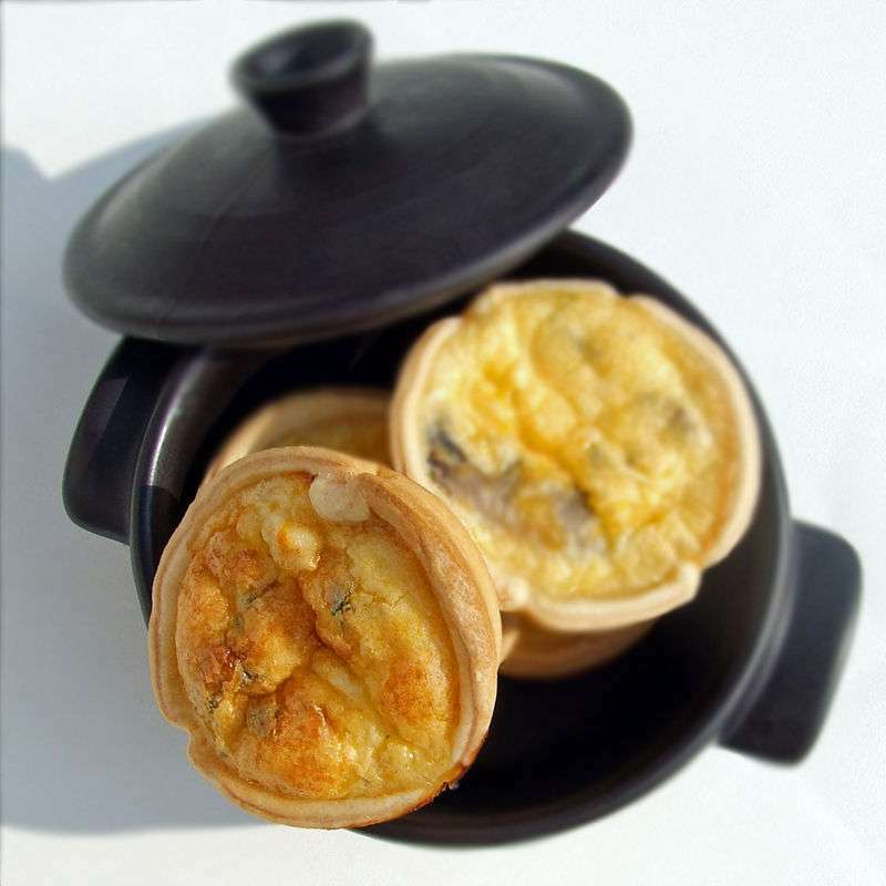 Mini-quiches Poulet Mimolette Champignons, Recette Ptitchef