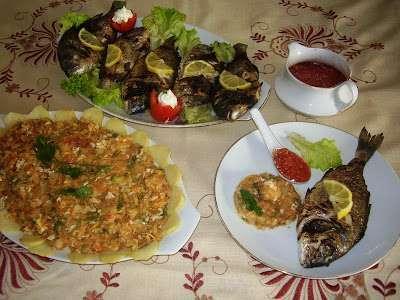 Mon complet poisson avec sa tastira tunisienne et sa sauce - Tastira cuisine tunisienne ...